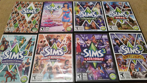 The Sims 3 with 7 Expansion Packs