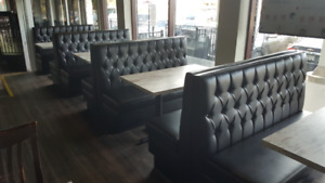 **TUFTED RESTAURANT BOOTHS AND BANQUETTES DOUBLES &SINGLES CUSTO