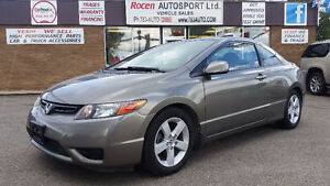 CERTIFIED 2006 CIVIC EX 2DR - SUN - 5SPD - LOADED - YORKTON