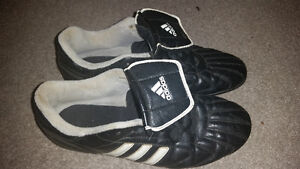 Boys and girls soccer shoes and pads