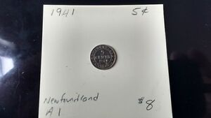 1941 Newfoundland 5 cent pieces