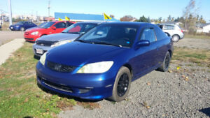 2005 HONDA CIVIC 2 DOOR 5 SPEED 1.7 L  SNOW TIRES