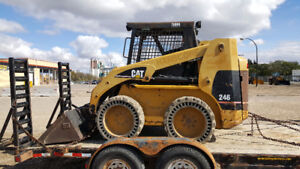 2001 CAT 246A Skid Steer and Trailer with Snow Contract