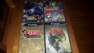 Jeux de gamecube pokemon et Zelda