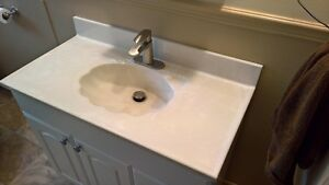 37 by 19 inch vanity top with tap & drain $20.00
