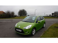 CITROEN C3 1.6 EXCLUSIVE HDI(60)ALLOYS,AIR CON,LIME GREEN MET,F,S,H