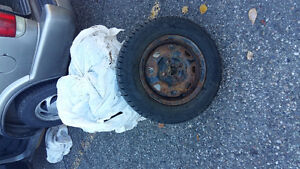 175/70 R 13 WINTER TIRES!!!! With rims Prince George British Columbia image 1