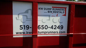 KW Dump Runners . . . . Bin Rentals NEW TIPPING PRICE Kitchener / Waterloo Kitchener Area image 3