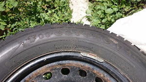 Firestone Winter Tires and Rims set, low KMs on tires! London Ontario image 5