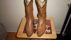 Dan Post Saddle Brand Leather Western Boots MADE IN USA