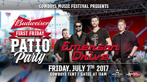 EMERSON DRIVE FIRST FRIDAY PATIO PARTY - COWBOYS TENT $30 EACH