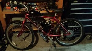 INFINITY MOUNTAIN BIKE WITH 80CC 2 STROKE GAS ENGINE