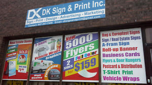 """5000 Flyer Glossy +AQ Both Side 5.5x8.5"""" Full color $159 London Ontario image 4"""