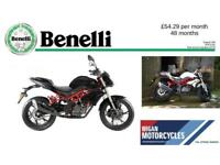 2018 BENELLI BN125 125cc LEARNER LEGAL.55.25 OVER 48M WITH 199 DEP.APR 9.9%