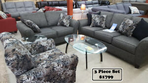 3 Piece Couch Set (Multiple Colors to Choose)