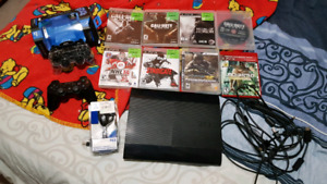 PS3 with assessories