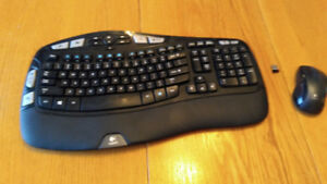 Logitech wave wireless keyboard and mouse