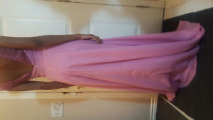 Long Pink Gown For Sale. Great quality, only worn once!