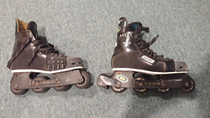 Used Bauer Hockey rollerblades