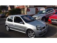 2003 03 RENAULT CLIO 172 REANULTSPORT IN ICEBURG SILVER.JUST 3 FORMER KEEPERS .