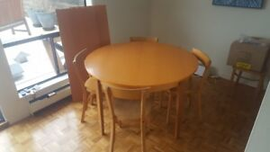 DINING TABLE SET, IKEA  with four CHAIRS