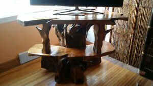 One of a kind exotic   wood carved tv stand Kingston Kingston Area image 2