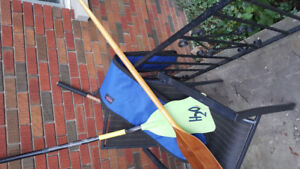CANOE PADDLES WHITE WATER ONE CARBON ONE HIGH END LAMINATE WOOD