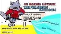 The Washing Raccoon Inc. Mobile pressure washing.
