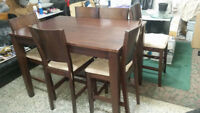 Dining HI table with 6 HI chairs