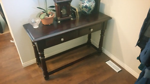 Console table -- fantastic condition - brown