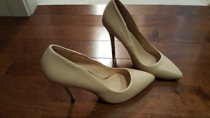 Aldo leather heels.New price 100.00 plus tax.Price reduced again