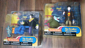 Beatles yellow submarine figures