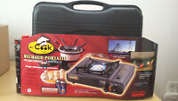 "PORTABLE STOVE 8000 BTU + 2 BUTANE GAS + 8"" FRYING PAN"