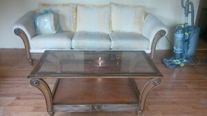 Free 3 seater sofa and table