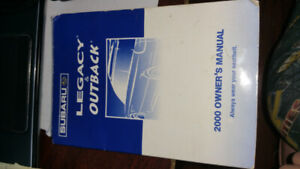 Subaru Owner's manual Legacy & Outback 2000 in english