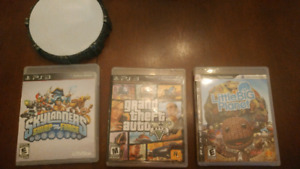 Jeux PS3 - Skylanders, GTA 5 et Little Big Planet