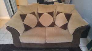 Beautiful Chocolate/Mocha Loveseat
