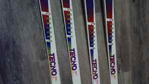 X country skis 195 and 205s and boots. London Ontario image 2