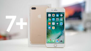 APPLE iPHONE 7 PLUS 256gb (GOLD/FIDO) BRAND NEW/UNOPENED