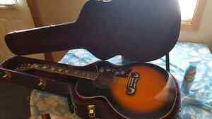NEW $$$ Epiphone EJ-200 Acoustic electric guitar with hard case