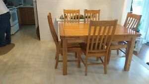 Hermitage Oak Dining Table $700