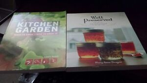 2 like new books...Well Preserved (canning) & Kitchen Garden