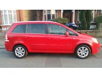 2012 Vauxhall Zafira MPV Petrol 1.6 Design Nav 5dr Red 12M MOT FULLY LOADED