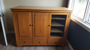 home made oak cabinet