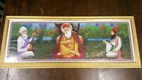 Guru Nanak Dev picture and frame - imported from India