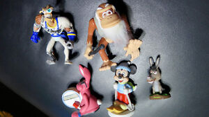 Figurines Shrek,Mickey,Earthworm Jim,Donkey Kong Disney