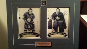 maple leaf johnny bower /frank mahovlich
