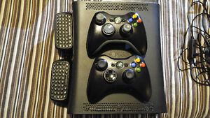 XBOX 360 with 2 controllers, 40 Games