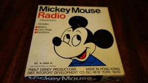 1970 Mickey Mouse radio - WORKS