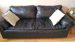 Faux Leather couch and loveseat